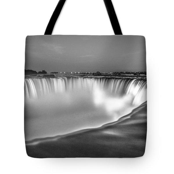 Niagara Falls In Black And White  Tote Bag