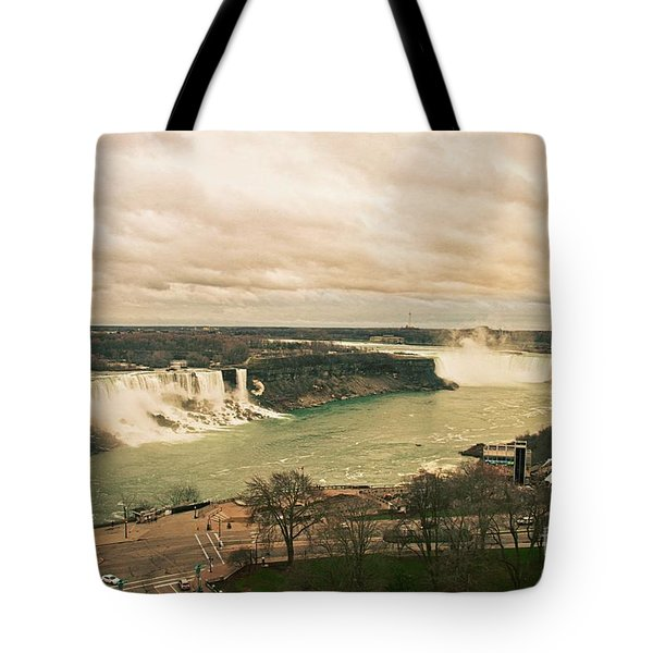 Tote Bag featuring the photograph Niagara Falls by Mary Machare
