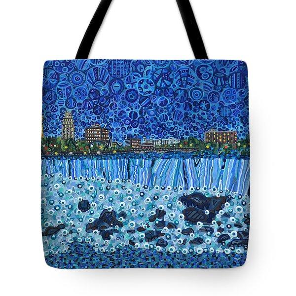 Niagara Falls - Night Tote Bag by Micah Mullen