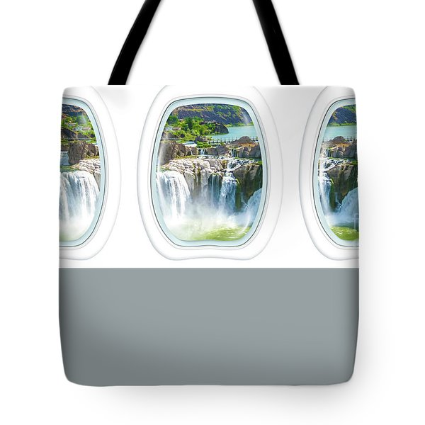 Tote Bag featuring the photograph Niagara Falls Porthole Windows by Benny Marty