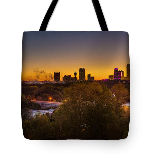 Niagara Falls Twilight From The 9th Floor Tote Bag by Chris Bordeleau