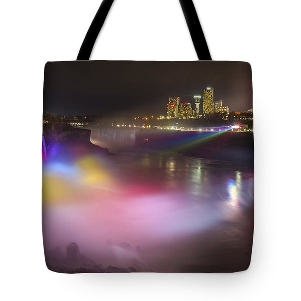 Tote Bag featuring the photograph Niagara Rainbow by Mark Papke