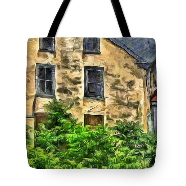 Tote Bag featuring the mixed media Niccolo by Trish Tritz