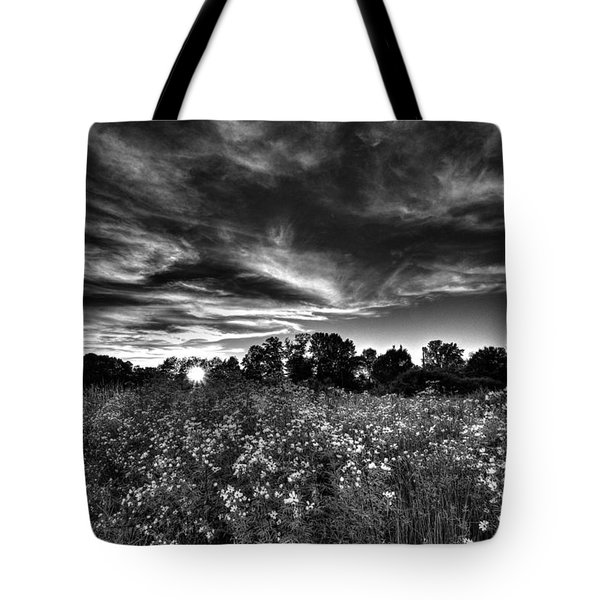 Nice And Cloudy At Sunset Tote Bag