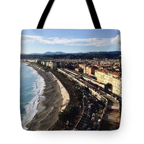 Nice France Boardwalk Tote Bag