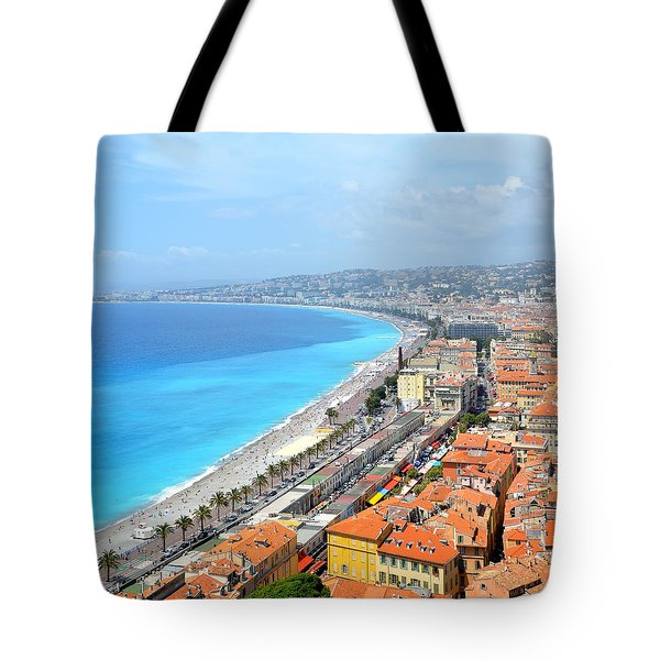Nice France Coastline Tote Bag
