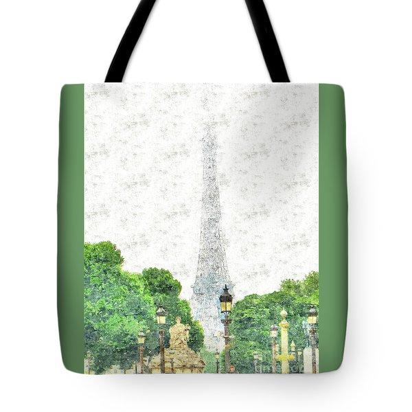 Tote Bag featuring the drawing Nice Paris by Yury Bashkin