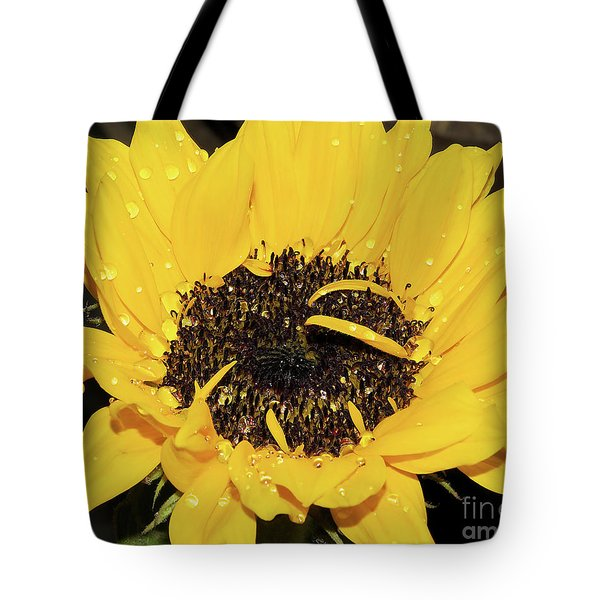Tote Bag featuring the photograph Nice Sunflower by Elvira Ladocki