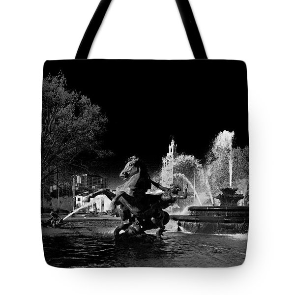 Tote Bag featuring the photograph Nichols Fountain by Jim Mathis