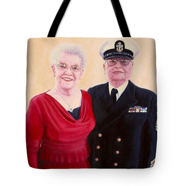 Tote Bag featuring the painting Nichols Portrait by Mike Ivey