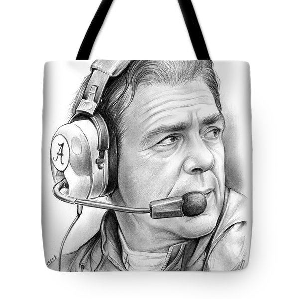 Nick Saban Tote Bag