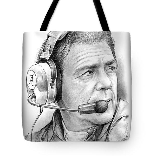Nick Saban Tote Bag