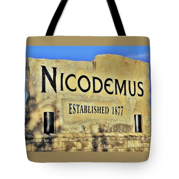 Nicodemus, 1877 Tote Bag