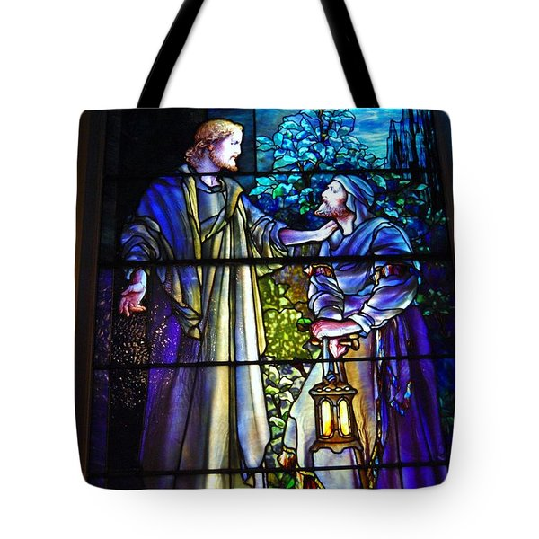 Nicodemus Came To Him At Night Tote Bag by Pg Reproductions