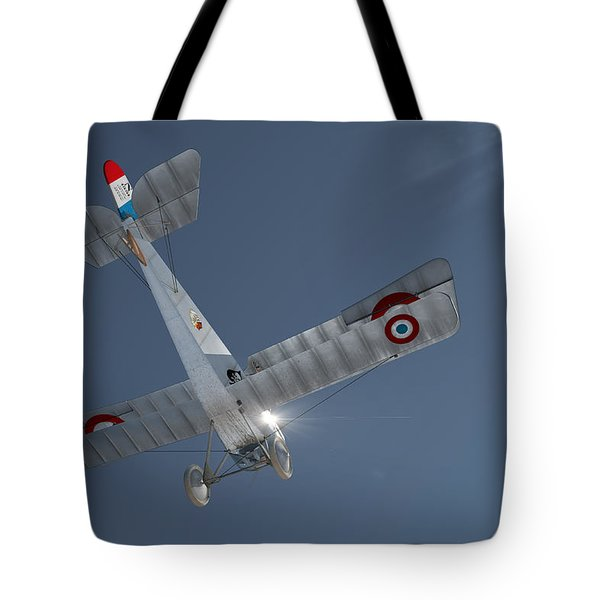 Nieuport 17 In The Blue Sky Tote Bag by David Collins