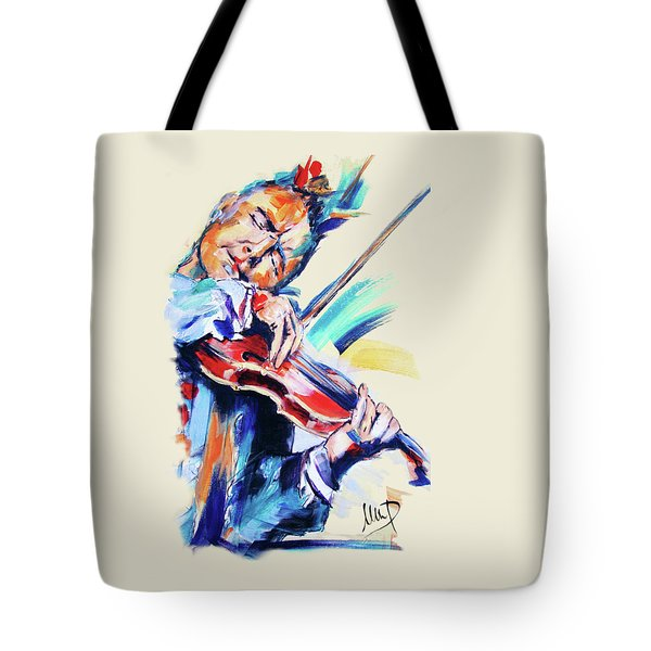 Nigel Kennedy Tote Bag by Melanie D