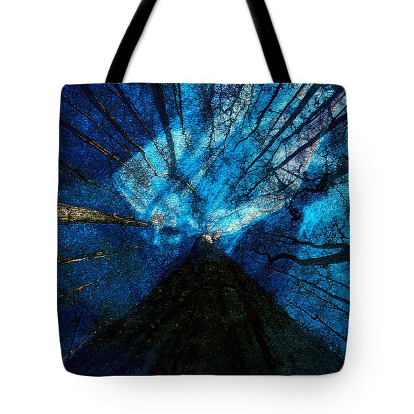 Tote Bag featuring the painting Night Angel by David Lee Thompson