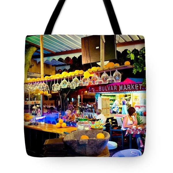 Night At Bar Tote Bag