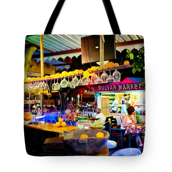 Night At Bar Tote Bag