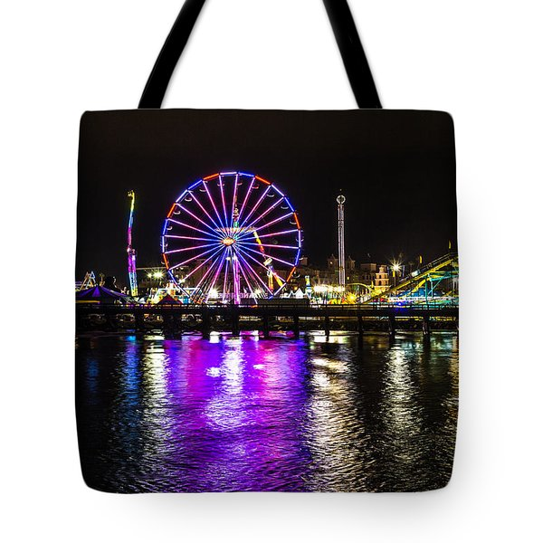 Tote Bag featuring the photograph Night At The Carnival by Randy Bayne