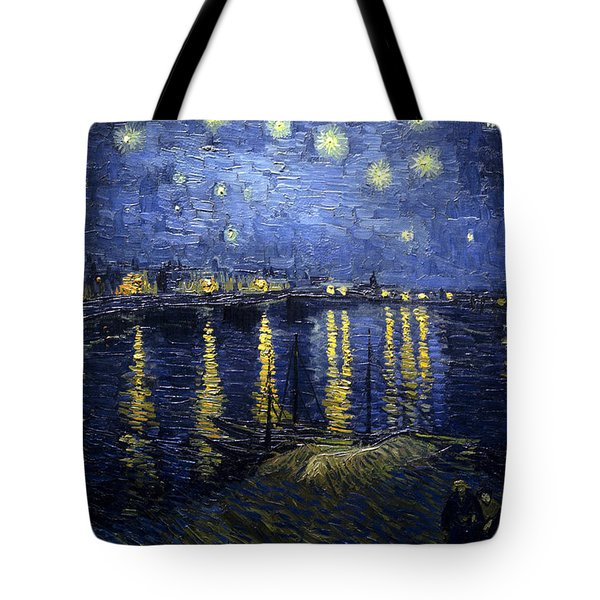Night At The Lake Tote Bag