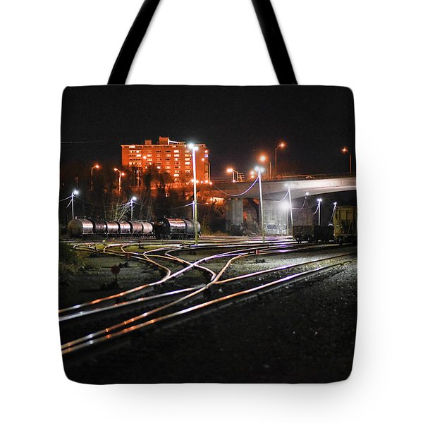 Night At The Railyard Tote Bag