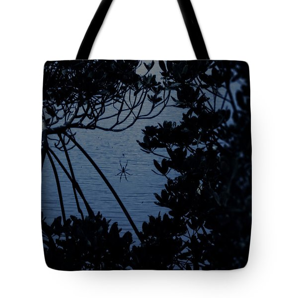 Tote Bag featuring the photograph Night Banana Spider by Megan Dirsa-DuBois