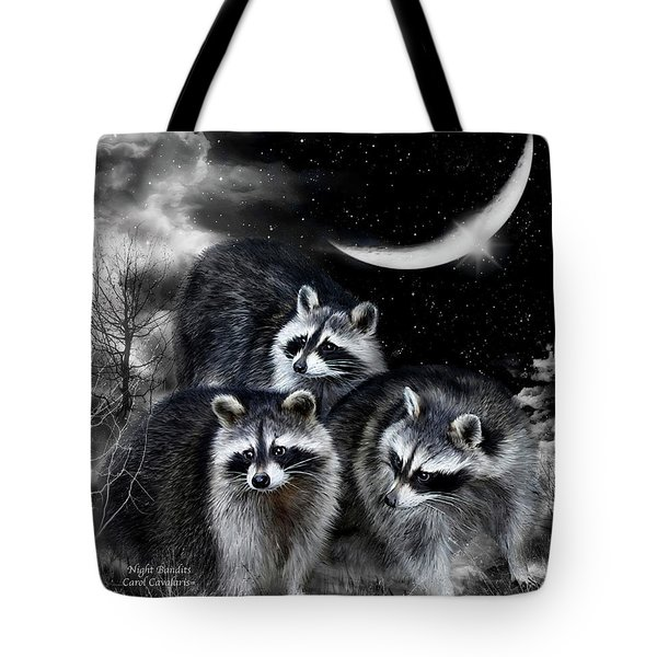 Night Bandits Tote Bag by Carol Cavalaris
