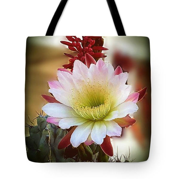 Tote Bag featuring the photograph Night-blooming Cereus 2 by Marilyn Smith