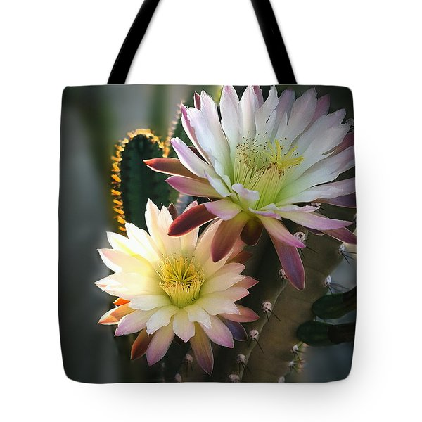 Tote Bag featuring the photograph Night-blooming Cereus 3 by Marilyn Smith