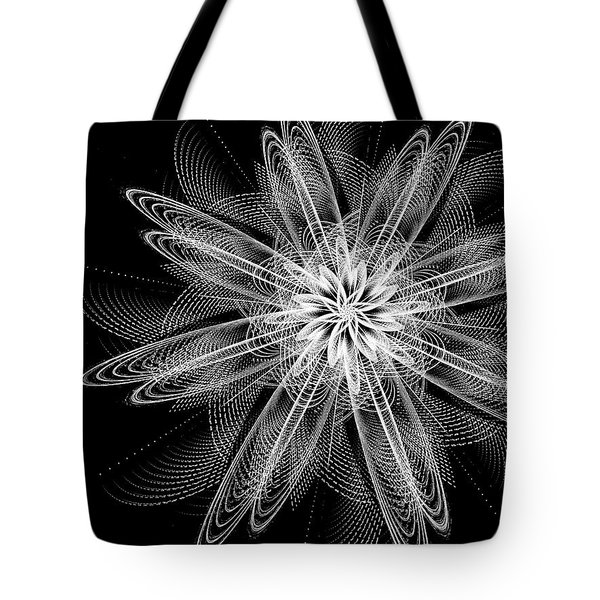 Tote Bag featuring the digital art Night Blossom by Linda Whiteside