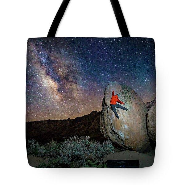 Night Bouldering Tote Bag by Evgeny Vasenev