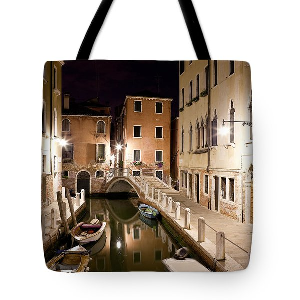 Night Bridge Tote Bag by Marco Missiaja