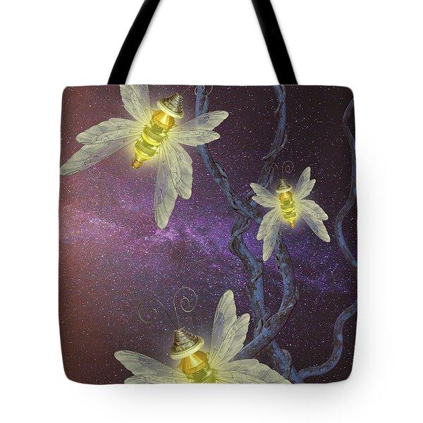 Night Butterflies Tote Bag