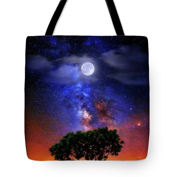 Night Colors Tote Bag by Justin Kelefas