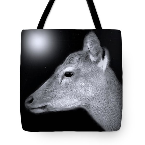 Night Doe Tote Bag by Marion Johnson