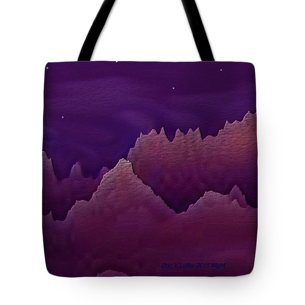 Tote Bag featuring the digital art Night by Dr Loifer Vladimir