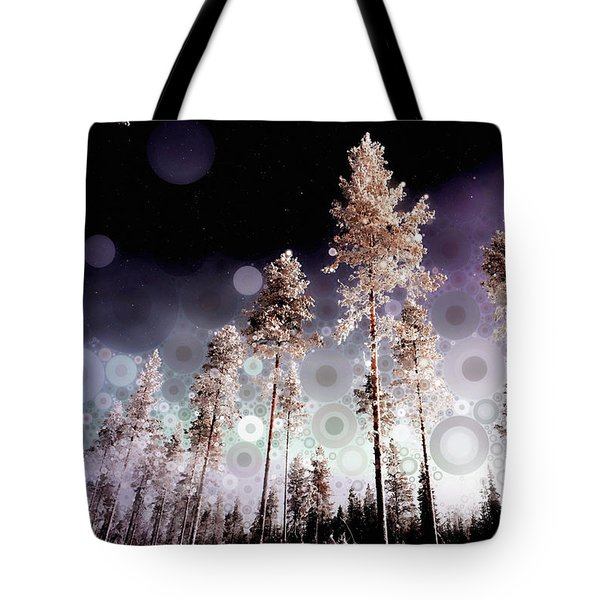 Tote Bag featuring the mixed media Night Falling by Susan Maxwell Schmidt