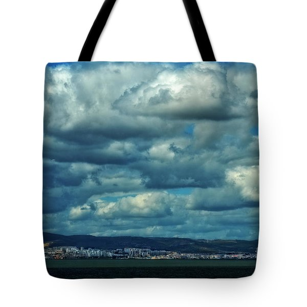 Night Falls On The Tagus River - Portugal Tote Bag