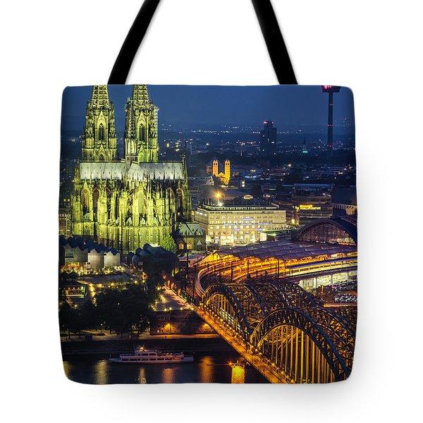Night Falls Upon Cologne 1 Tote Bag