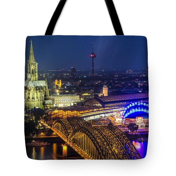 Night Falls Upon Cologne 2 Tote Bag