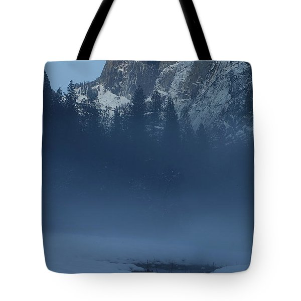 Tote Bag featuring the photograph Night Falls Upon Half Dome At Yosemite National Park by Jetson Nguyen