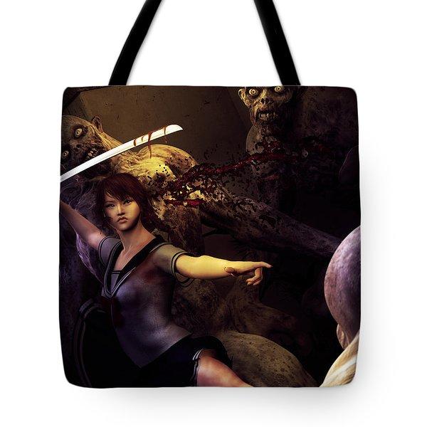 Night Fight Tote Bag
