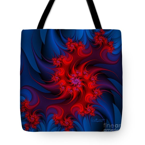 Night Fire Tote Bag by Jutta Maria Pusl
