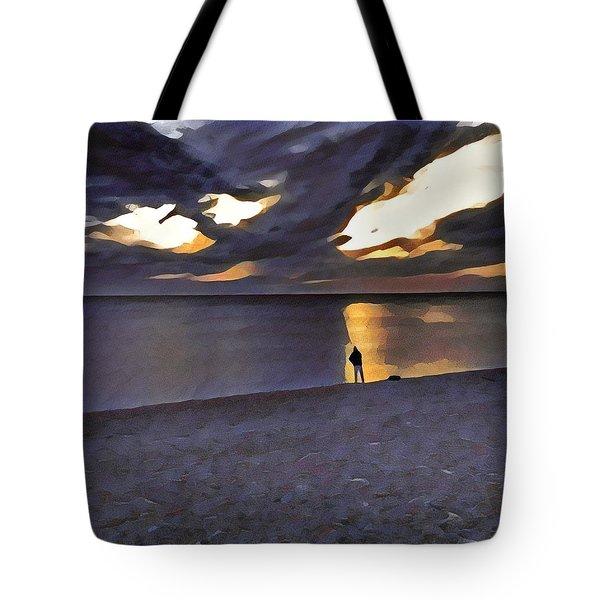 Night Fisher Tote Bag