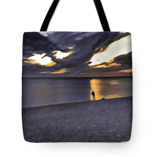 Night Fisher Tote Bag