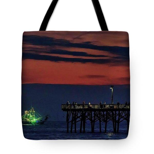 Night Fishing Tote Bag