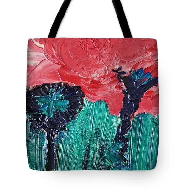 Night Flower Tote Bag