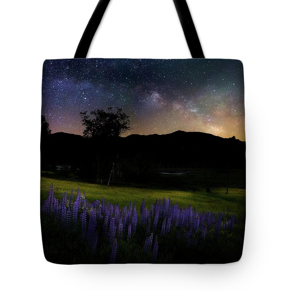 Tote Bag featuring the photograph Night Flowers Square by Bill Wakeley