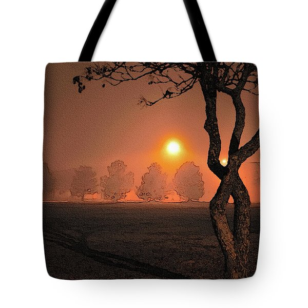Night Fog Tote Bag by Betty LaRue